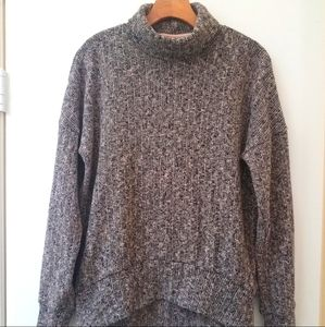Topshop Relaxed Fit Turtleneck Sweater